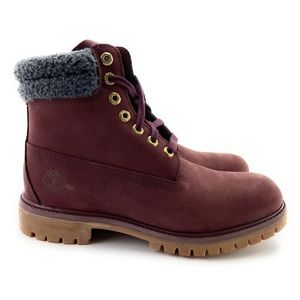 """Timberland Men's Premium 6"""" Leather Boots Size 9 W"""